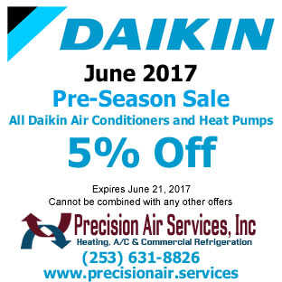 All Daikin Air Conditioners and Heat Pumps May